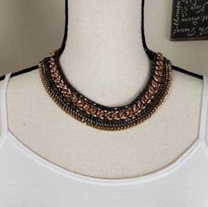 Collar Necklace Chain Gold Rose Gold Gunmetal